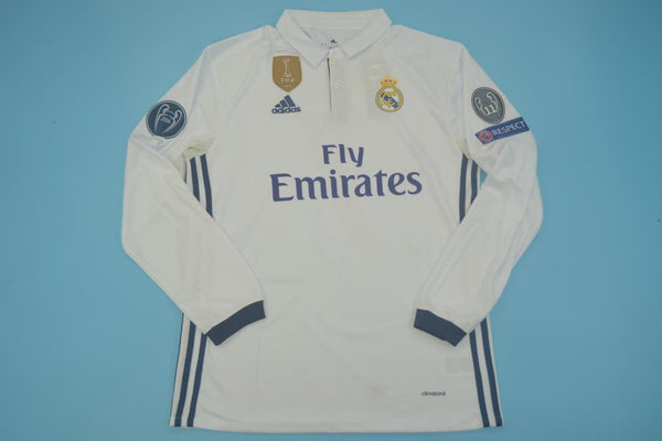 REAL MADRID 2016 2017 HOME JERSEY UCL LONG SLEEVE