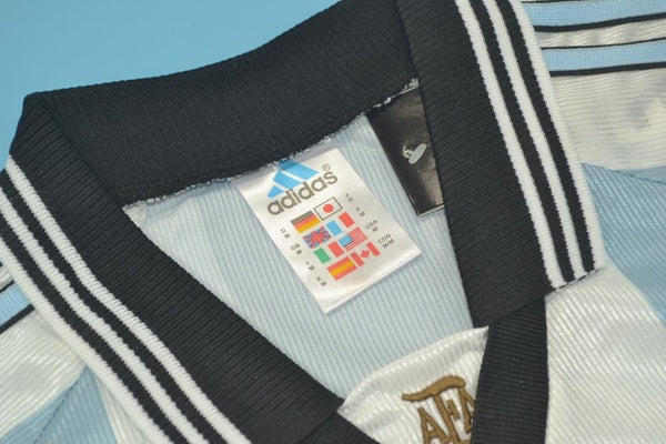 ARGENTINA 1998 CRESPO 19 WORLD CUP HOME  JERSEY
