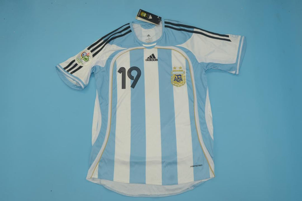 lowest price 7d51f 37397 ARGENTINA 2006 MESSI 19 WORLD CUP HOME FOOTBALL SHIRT SOCCER ...