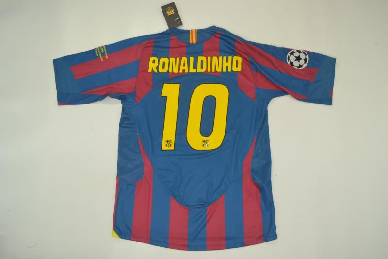 9d1dfbae2fa FC BARCELONA 2006 RONALDINHO 10 UCL FINAL HOME FOOTBALL SHIRT JERSEY  CAMISETA ...