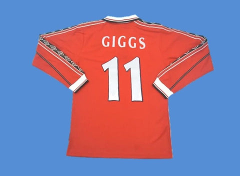 MANCHESTER UNITED 1998 1999 LONG SLEEVE HOME JERSEY GIGGS 11