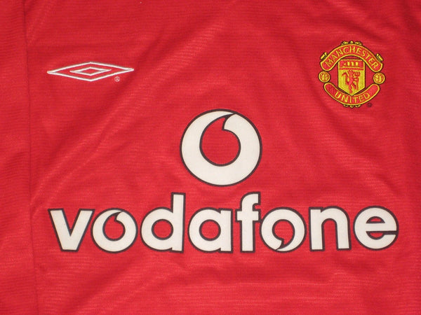 MANCHESTER UNITED  2000 2002 HOME JERSEY