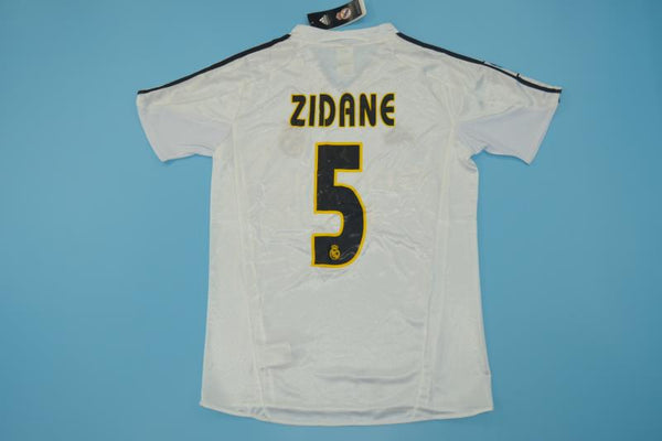 REAL MADRID 2003 2004 ZIDANE 5 HOME JERSEY