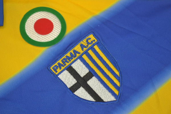 PARMA 1999 2000 THURAM 21 HOME JERSEY SERIE A PATCH