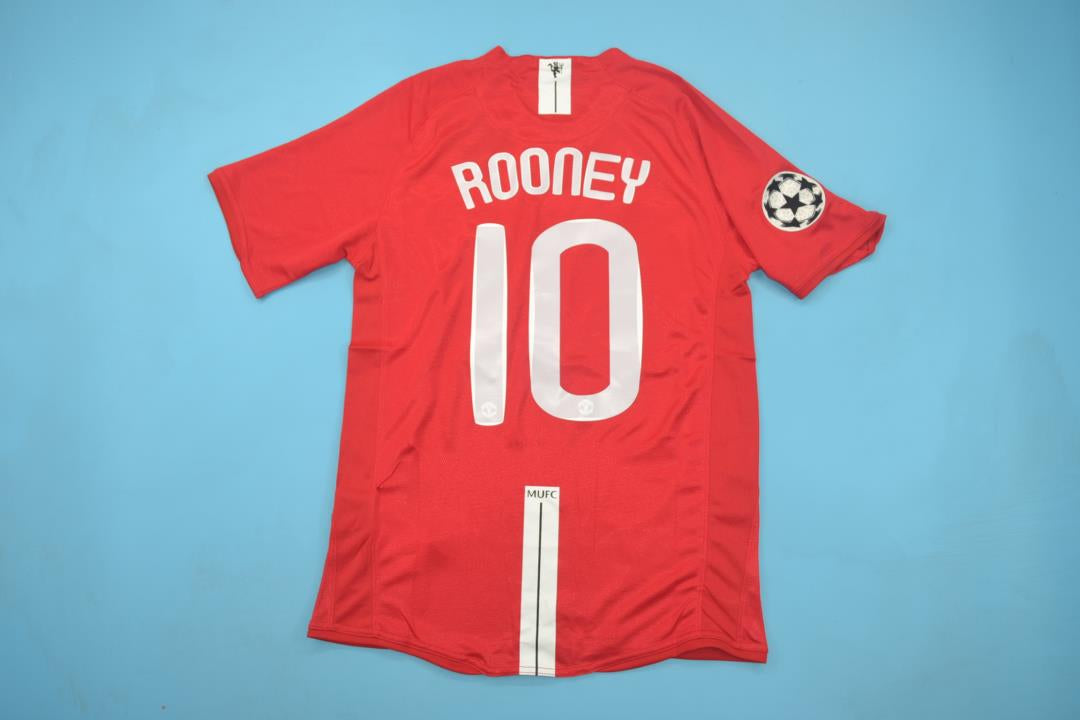 fbe3af6d7 MANCHESTER UNITED 2007 2008 ROONEY 10 UCL FINAL HOME FOOTBALL SOCCER JERSEY