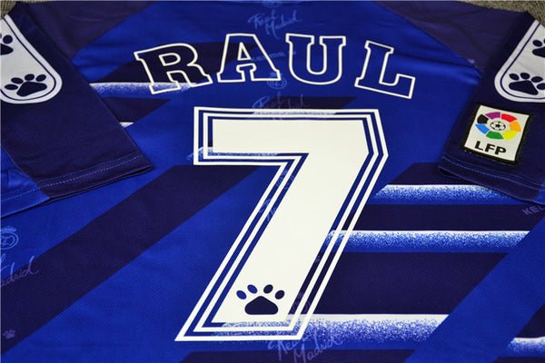 REAL MADRID 1994 1996 RAUL 7 AWAY JERSEY