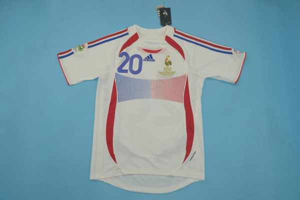 FRANCE 2006 WORLD CUP TREZEGUET 20 AWAY JERSEY
