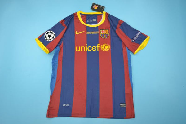 BARCELONA 2010 2011 UCL FINAL HOME JERSEY