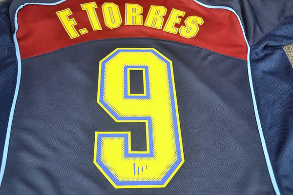 ATLETICO MADRID 2004 2005 TORRES 9 AWAY JERSEY
