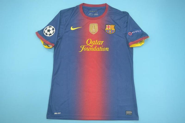 BARCELONA 2012 2013 UCL WORLD CHAMPIONS MESSI 10 HOME JERSEY
