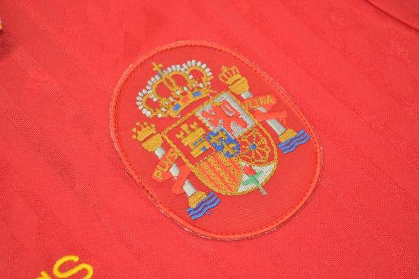 SPAIN 1994 ESPAÑA GUERRERO 8 WORLD CUP HOME  JERSEY