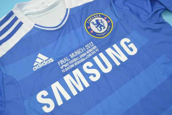 CHELSEA 2012 DROGBA 11 UCL FINAL HOME JERSEY