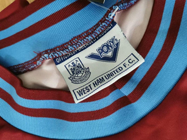 WEST HAM  UNITED 1993 1995 HOME JERSEY
