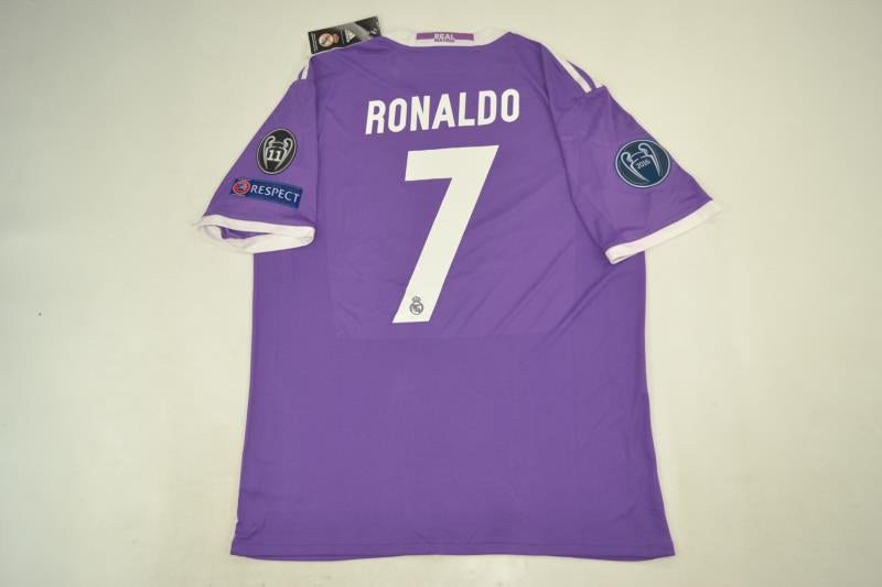 on sale 0a9f9 02384 REAL MADRID 2016-2017 RONALDO 7 UEFA CHAMPIOS LEAGUE FOOTBALL SHIRT JERSEY