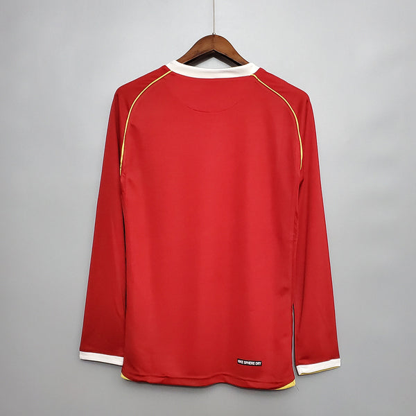 MANCHESTER UNITED 2006 2007 LONG SLEEVE HOME JERSEY