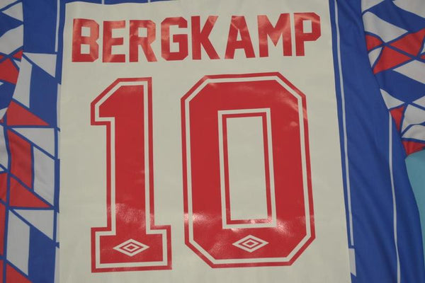 AJAX 1990 BERGKAMP 10 AWAY JERSEY