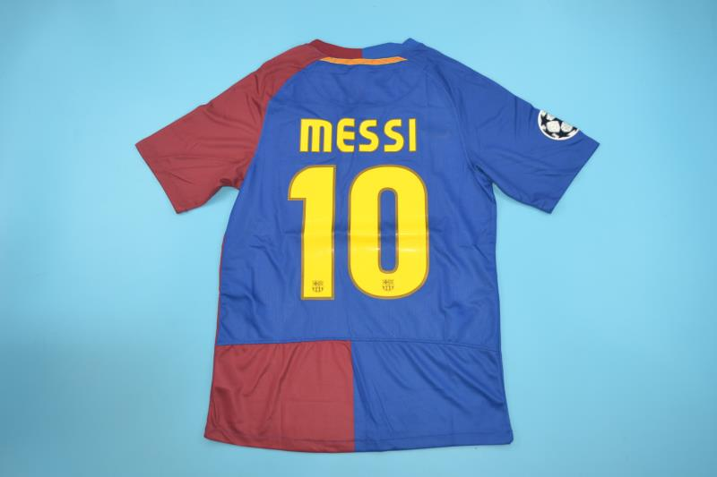 barcelona 2008 2009 messi 10 ucl final home jersey vintage jerseys vintage jerseys