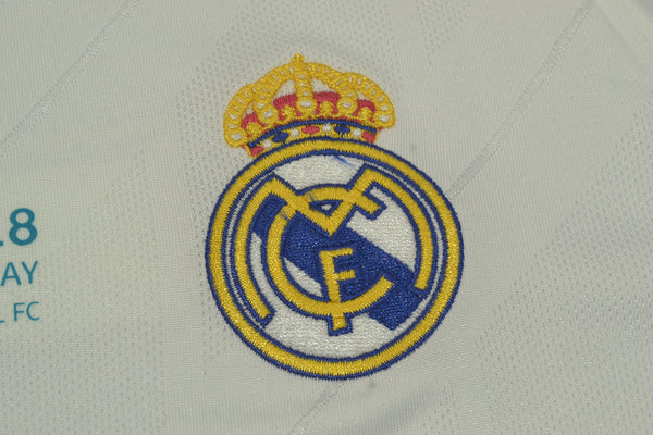 REAL MADRID 2017-2018 UEFA CHAMPIOS LEAGUE HOME  JERSEY