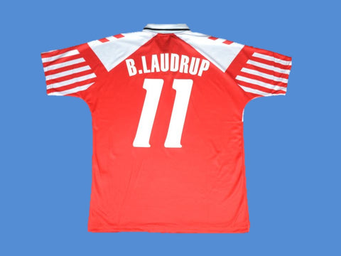 DENMARK 1992  B. LAUDRUP 11 HOME JERSEY