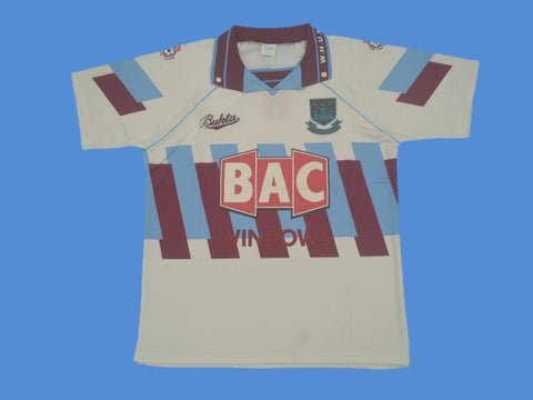 WEST HAM  UNITED 1990 1991 AWAY JERSEY