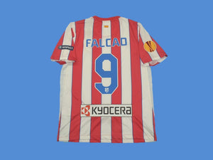 ATLETICO MADRID 2011 2012 FALCAO 9 HOME JERSEY EUROPA