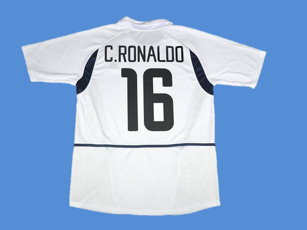 PORTUGAL 2002 RONALDO 16 WORLD CUP AWAY  JERSEY