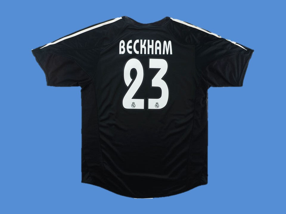 REAL MADRID 2004 2005 BECKHAM 23 AWAY JERSEY