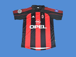 AC MILAN  2000 2002 HOME JERSEY CHAMPIONS LEAGUE
