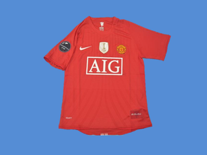 MANCHESTER UNITED  2008 2009  SHORT  SLEEVE   JERSEY