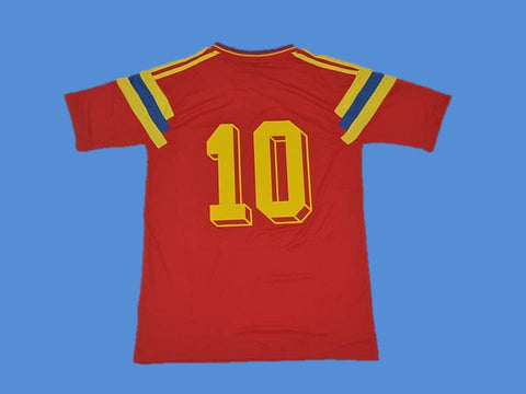 COLOMBIA 1990 NUMBER 10 WORLD CUP HOME JERSEY