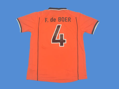 NETHERLANDS HOLLAND 1998 F. DE BOER 4 WORLD CUP HOME  JERSEY
