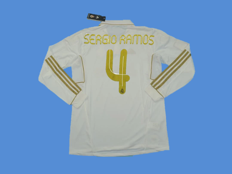 REAL MADRID 2011-2012 SERGIO RAMOS 4  HOME JERSEY