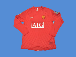 MANCHESTER UNITED  2007  2008 LONG SLEEVES  JERSEY