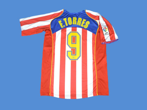 ATLETICO MADRID 2004 2005 TORRES 9 HOME JERSEY