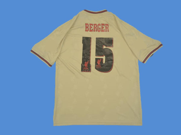 LIVERPOOL 1995 1997 BERGER 15 AWAY JERSEY