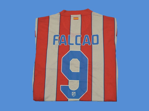 ATLETICO MADRID 2011 2012 FALCAO 9 HOME JERSEY