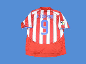ATLETICO MADRID 2003 2004 TORRES 9 HOME JERSEY