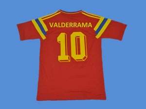 COLOMBIA 1990 VALDERRAMA 10 WORLD CUP HOME  JERSEY