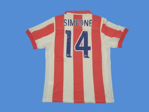 ATLETICO MADRID  2002 2003 SIMEONE 14 HOME JERSEY CENTENARIO