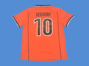 NETHERLANDS HOLLAND 1998 SEEDORF 10 WORLD CUP HOME  JERSEY