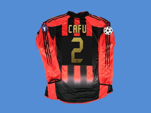 AC MILAN 2004 2005 CAFU 2  LONG SLEEVE HOME JERSEY