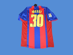 BARCELONA 2004 2005 MESSI 30   HOME JERSEY