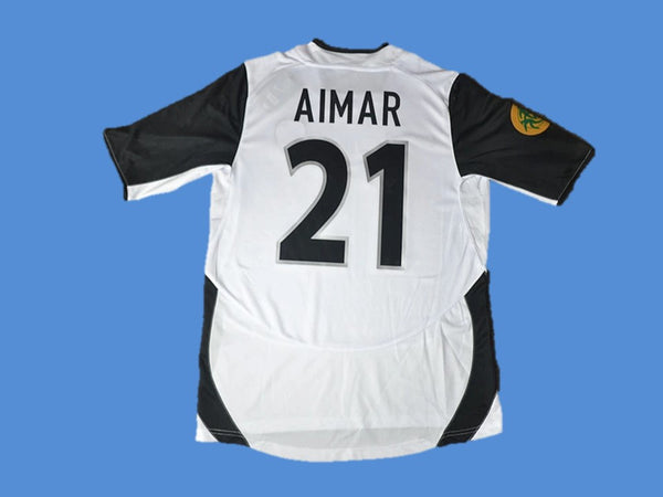 VALENCIA 2003 2004 AIMAR 21 EUROPA LEAGUE FINAL HOME JERSEY