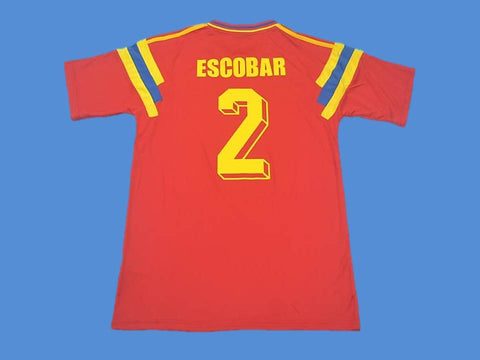 COLOMBIA 1990 ESCOBAR 2 WORLD CUP HOME JERSEY