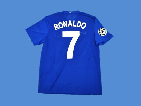 MANCHESTER UNITED 2007 2008 AWAY RONALDO 7 JERSEY CHAMPIONS LEAGUE