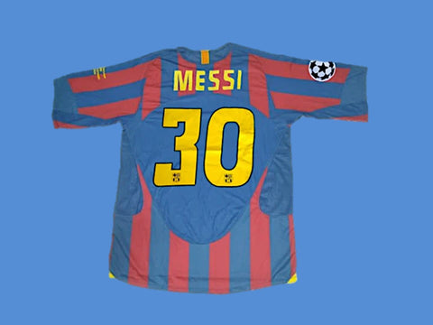 FC BARCELONA 2006 MESSI 30 UCL FINAL HOME JERSEY