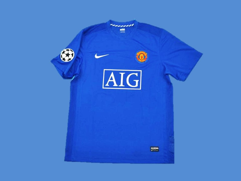 MANCHESTER UNITED 2007 2008 AWAY JERSEY CHAMPIONS LEAGUE