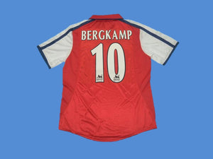 ARSENAL 2000 BERGKAMP 10 HOME JERSEY