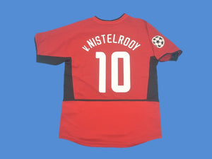 MANCHESTER UNITED 2002 2003 VAN NISTELROOY 10  UCL HOME JERSEY