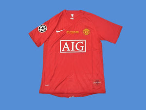 MANCHESTER UNITED 2007 2008 UCL FINAL  HOME JERSEY